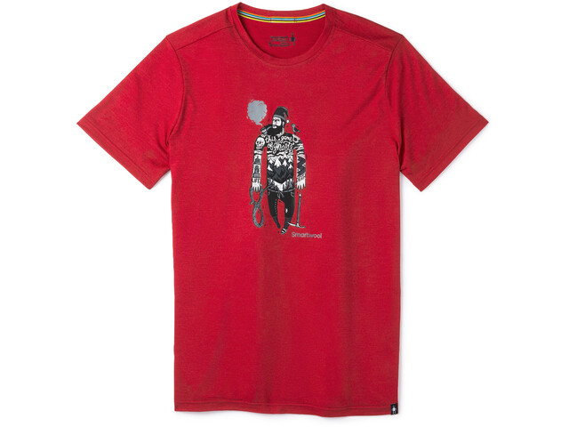 Smartwool Merino Sport 150 Game of Ghost Camiseta Hombre, chili pepper heather